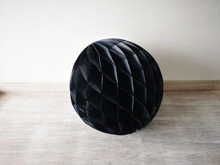 Black Honeycomb Lantern 30cm Black-Honeycomb-Lantern-30cm