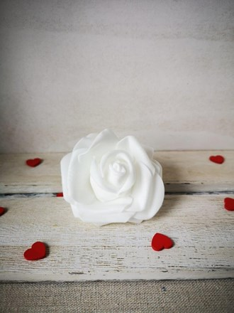 Foam Rose White 6cm Foam-Rose-White-6cm