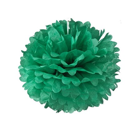 Teal Tissue Pom Pom - Small Teal-Tissue-Pom-Pom---Small