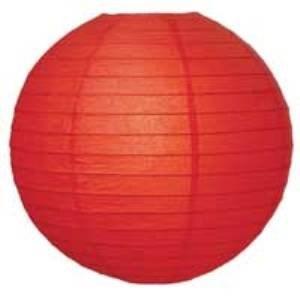 Red Paper Lantern - 30cm Red-Chinese-Lantern-30cm