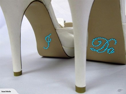 I Do Shoe Stickers Blue I-do-blue