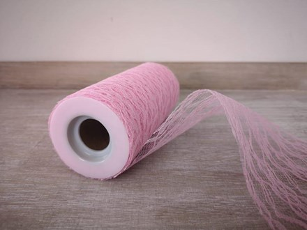Pink Lace Roll 15cmx 10mtrs pinklace10m