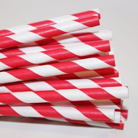 Red Stripe Paper Straws 50pcs Red-Stripe-Paper-straws