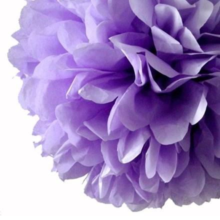 Lavender Tissue Pom Pom - Large Lavender-Tissue-Pom-Pom---Large