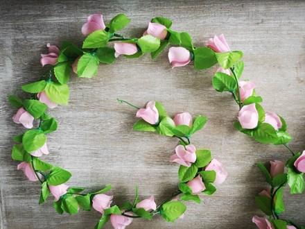 Small Pink Rose Garland 2m Pinksmgarland