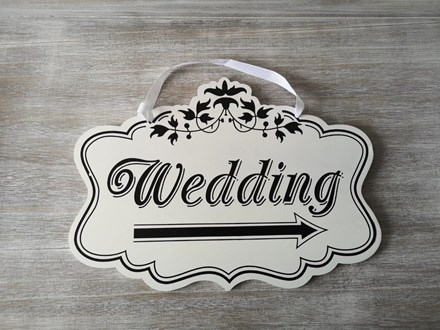 Hire - Wedding Direction Sign Right Hire-rightdirectionsign
