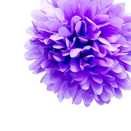 Lavender Tissue Pom Pom - Medium Lavender-Tissue-Pom-Pom---Medium