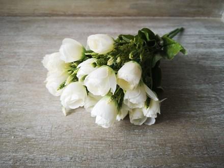 10 Head White Rose Bouquet 10whitebouquet