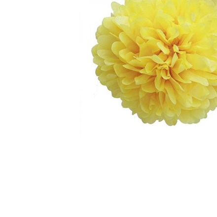 Yellow Tissue Pom Pom - Small Yellow-Tissue-Pom-Pom---Small