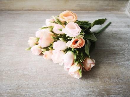 10 Head Peach Rose Bouquet 10peachbouquet
