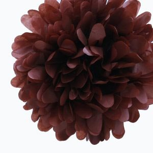 Chocolate Brown Tissue Pom Pom - Large Chocolate-Brown-Tissue-Pom-Pom---Large