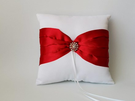 White and Red Satin Ring Cushion White-and-Red-Satin-Ring-Cushion