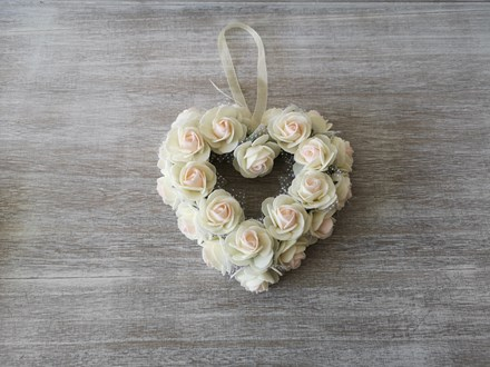 Small Ivory Rose Heart Wreath Small-Ivory-Heart-Wreath