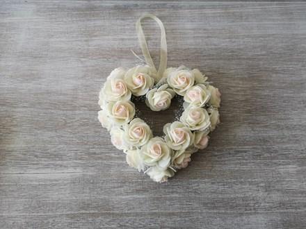 Small Ivory Rose Heart Wreath Small-Ivory-Heart-Wreath