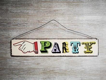Vintage 'Party' Tin Sign Vintage-'Party'-Tin-Sign