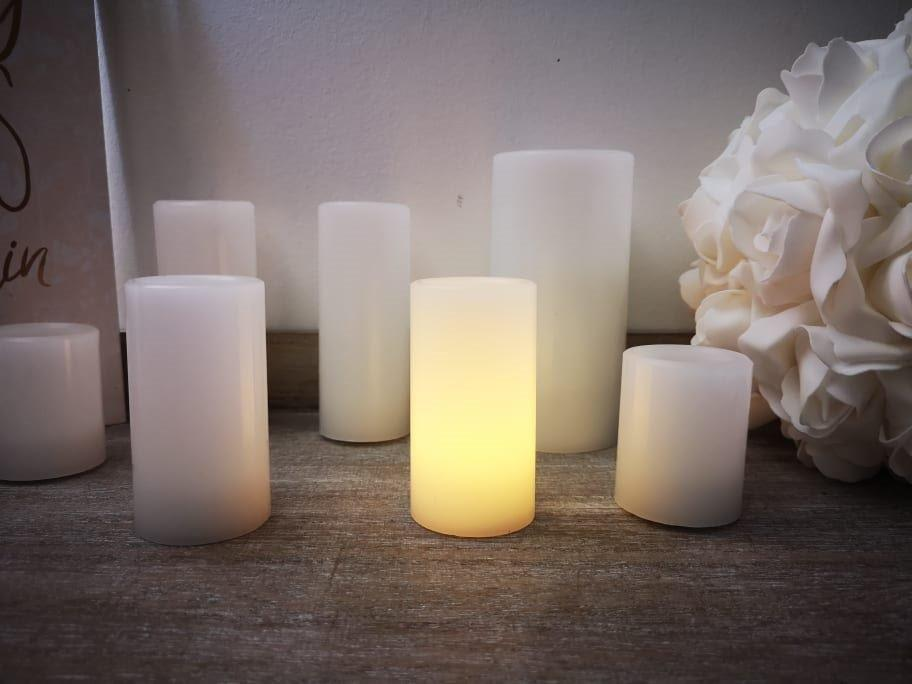 Wax Candle with LED Light 9.5cm LB221