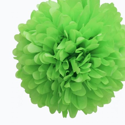 Green Tissue Pom Pom - Large Green-Tissue-Pom-Pom---Large