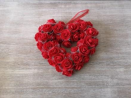 Medium Red Rose Heart Wreath Medium-Red-Rose-Heart-Wreath