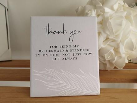 """Bridesmaid """"Thank You"""" Verse BMV11"""