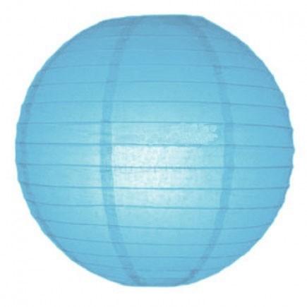 Sky Blue Paper Lantern - 30cm Sky-Blue-Tissue-Lantern-30cm-Diameter