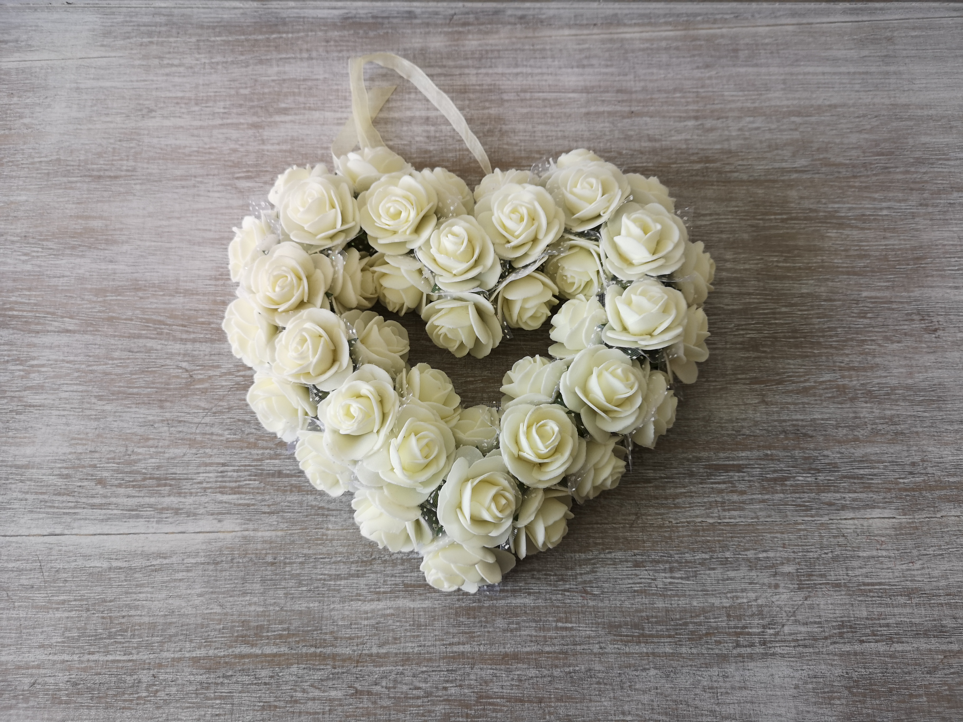 Medium White Rose Heart Wreath Medium-White-Rose-Heart-Wreath