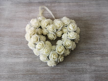 Medium White Rose Heart Wreath Medium-White-Rose-Heart-Wreath