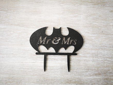 Mr & Mrs Batman Cake Topper Mr-and-Mrs-Batman-Cake-Topper