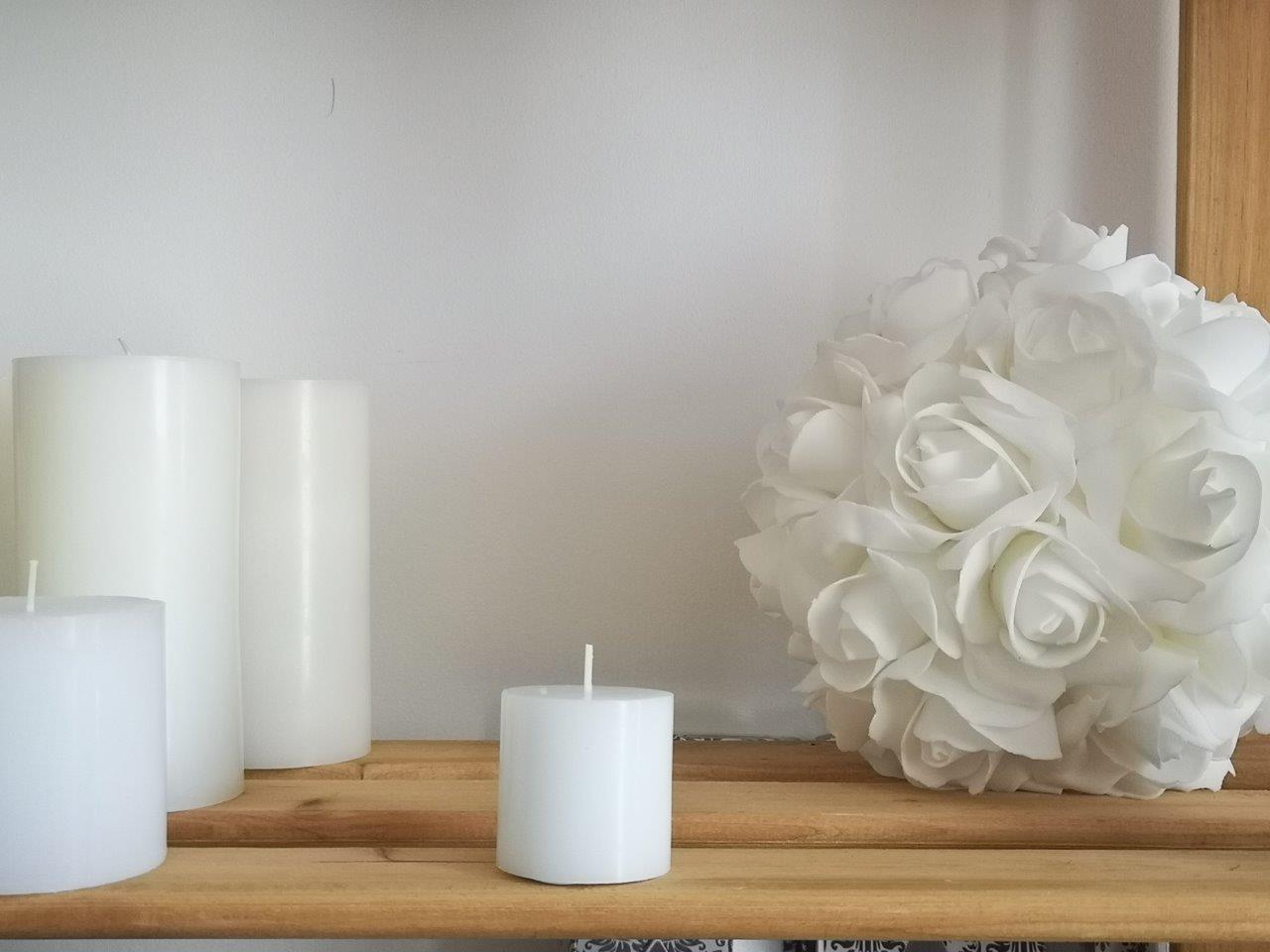 White Pillar Candle 5cm x 5cm pillar-candle-5cm