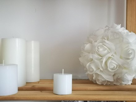 White Pillar Candle 5cm x 5cm pillar-candle-5cm