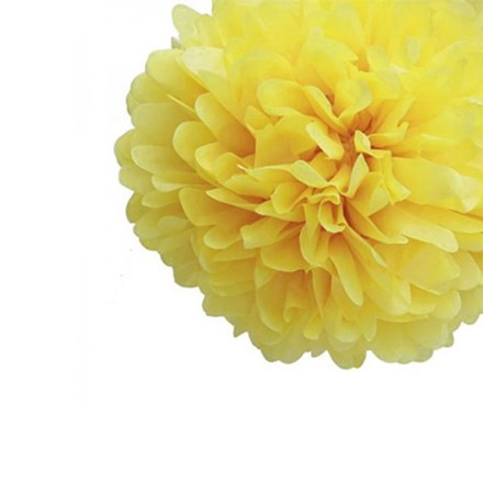Yellow Tissue Pom Pom - Medium Yellow-Tissue-Pom-Pom---Medium