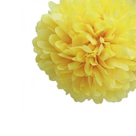 Yellow Tissue Pom Pom - Medium Yellow-Tissue-Pom-Pom---Medium
