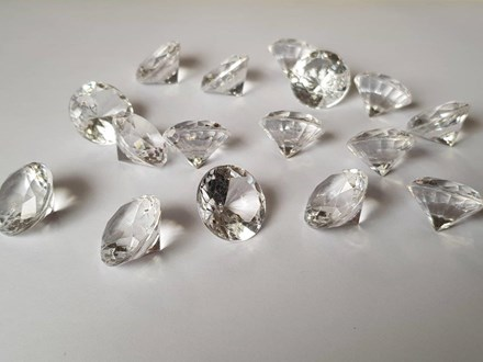 Diamond Table Scatters Clear 20mm x 50pcs clearscatters20