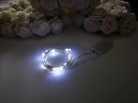 2m Seed Lights Cool White Silver Wire 2m-Seed-Lights-Cool-White-Silver-Wire