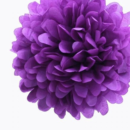 Purple Tissue Pom Pom - Large Purple-Tissue-Pom-Pom---Large