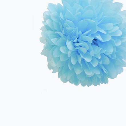 Baby Blue Tissue Pom Pom - Small Baby-Blue-Tissue-Pom-Pom---Small