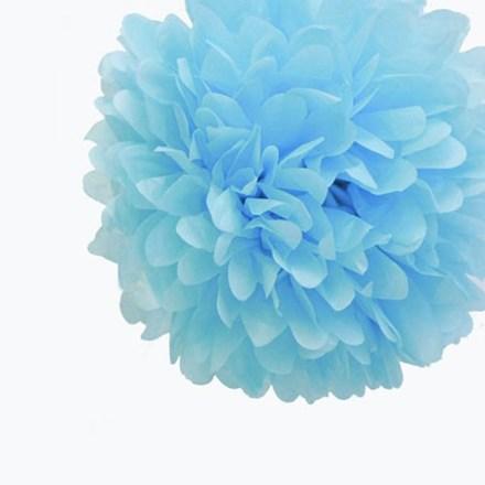 Baby Blue Tissue Pom Pom - Medium Baby-Blue-Tissue-Pom-Pom---Medium