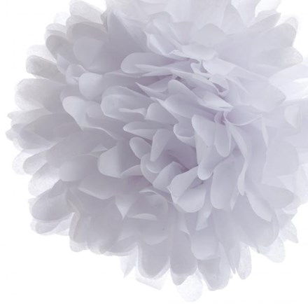 White Tissue Pom Pom - Medium White-Tissue-Pom-Pom---Medium