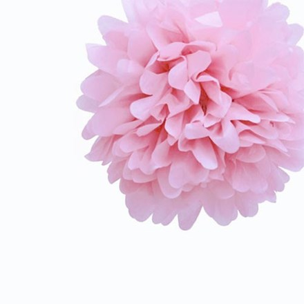 Baby Pink Tissue Pom Pom - Medium Baby-Pink-Tissue-Pom-Pom---Medium