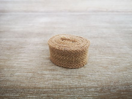 Narrow Burlap Ribbon - 2m 2x3cmburlap
