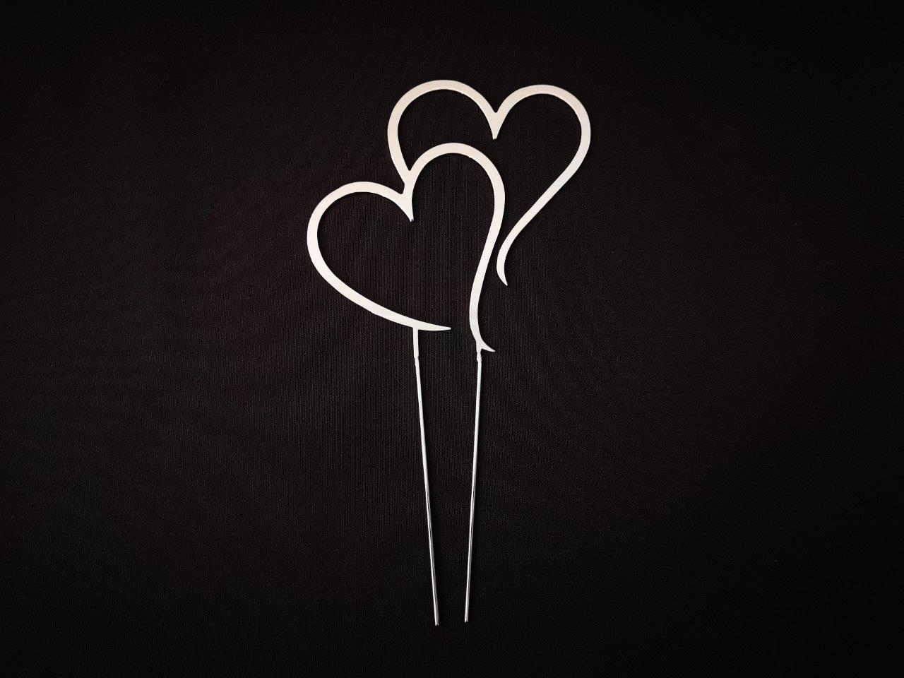 Large Silver Heart Wedding Cake Topper Large-Silver-Heart-Wedding-Cake-Topper---Large