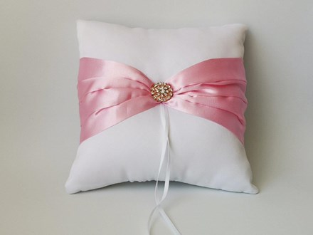 White and Pink Satin Ring Cushion White-and-Pink-Satin-Ring-Cushion