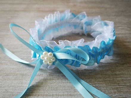 Blue Satin and Lace Garter Blue-Satin-and-Lace-Garter