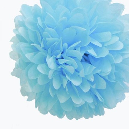 Baby Blue Tissue Pom Pom - Large Baby-Blue-Tissue-Pom-Pom---Large