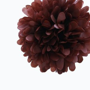 Chocolate Brown Tissue Pom Pom - Medium Chocolate-Brown-Tissue-Pom-Pom---Medium