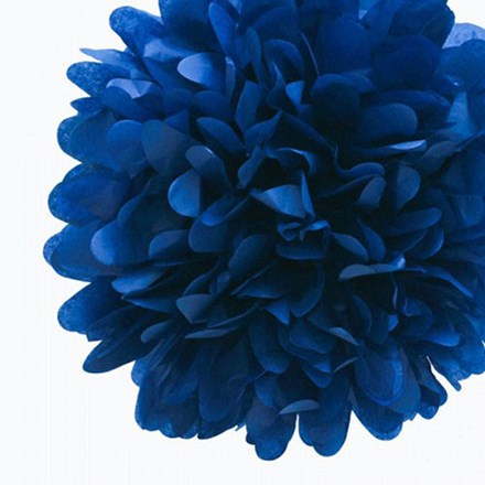 Navy Tissue Pom Pom - Large Navy-Tissue-Pom-Pom---Large