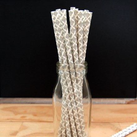 Silver Damask Design Straws Silver-Damask-Design-Straws