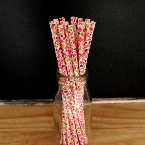 Funky Floral Paper Straws Funky-Floral-Paper-Straws-25pcs