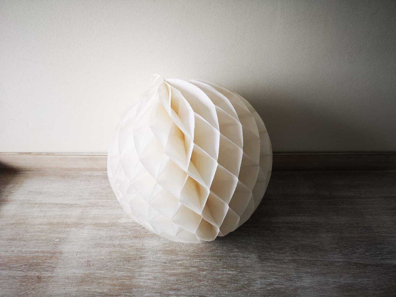 Ivory Honeycomb Lantern 30cm Ivory-Honeycomb-Lantern-30cm
