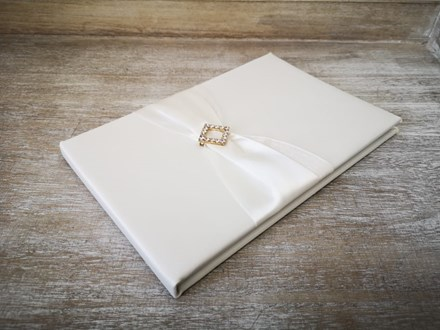 Ivory Wedding Guest Book Ivrybucklebook