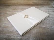 Ivory Wedding Guest Book Ivrybucklebook